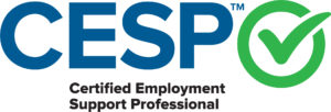 CESP with Certified Employment Support Professional written under it. A check mark in a green circle.