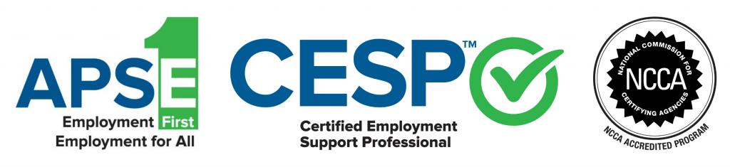 APSE logo, CESP logo, NCCA logo.