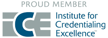 Proud member Institute for Credentialing Excellence.