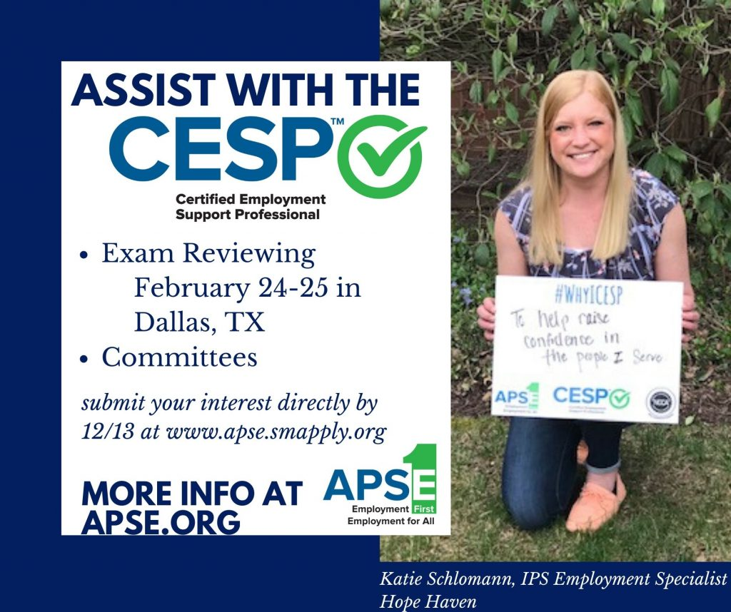 Assist with the CESP. Exam Reviewing and Committees. Submit your interest at www.apse.smapply.org