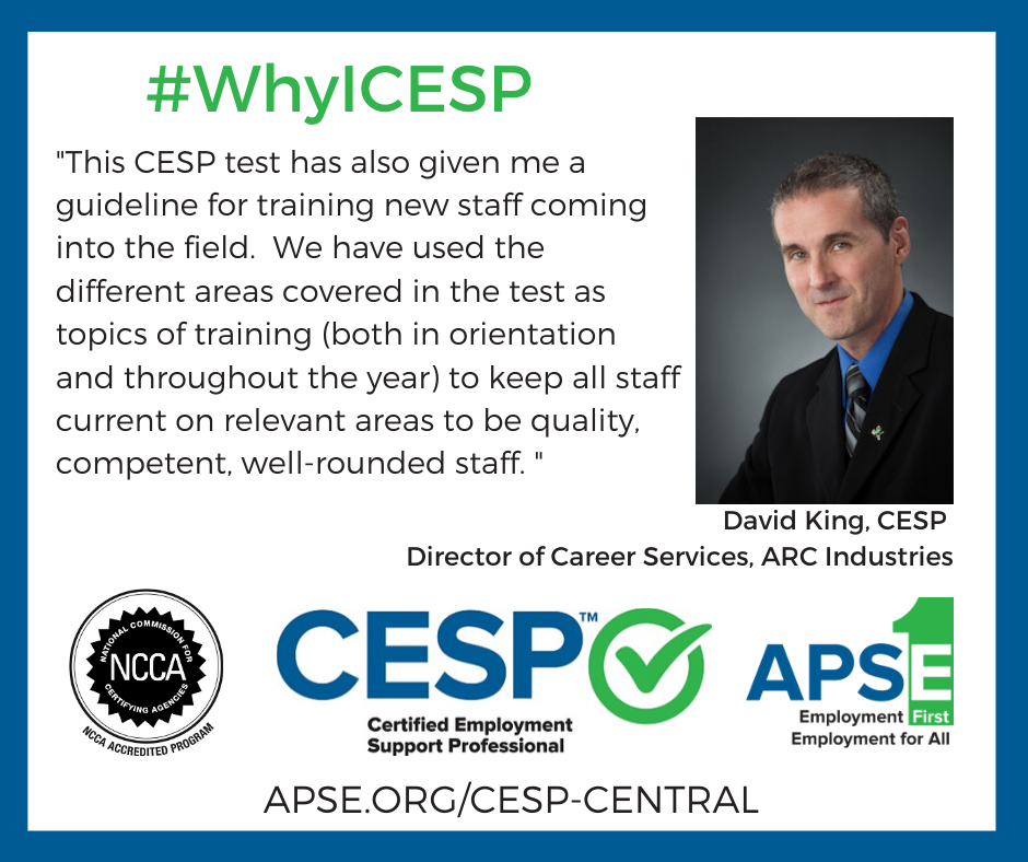 David King #WhyICESP Statement