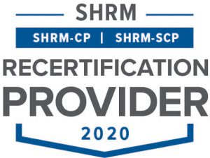 SHRM-CP, SHRM-SCP Recertification Provider 2020.