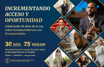 Cartel del Mes Nacional de la Concientización Sobre la Discapacidad en el Empleo 2020