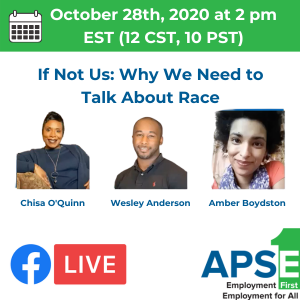 The 3 panelists who identify as Black, Indigenous, or People of Color. October 28th, at 2pm EST. Click to find more.