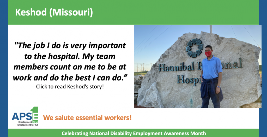 "Meet Keshod (Missouri)! "" ""The job I do is very important to the hospital. My team members count on me to be at work and do the best I can do."" Click to read Keshod's story!"