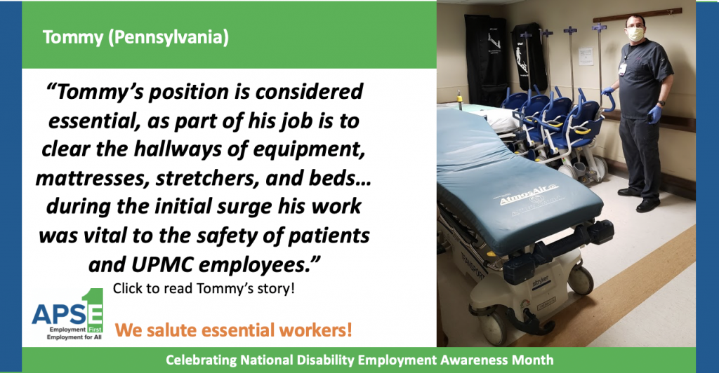 """Tommy's position is considered essential, as part of his job is to clear the hallways of equipment, mattresses, stretchers, and beds… during the initial surge his work was vital to the safety of patients and UPMC employees."" Click to read Tommy's story!"
