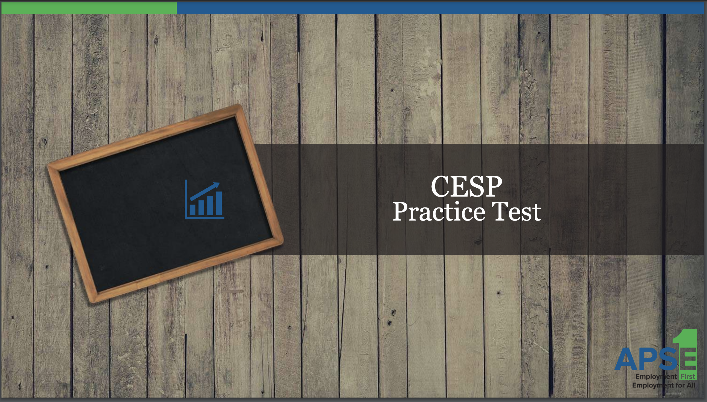CESP Practice test first page.
