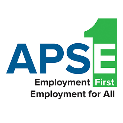 APSE logo. Employment First, Employment for All.