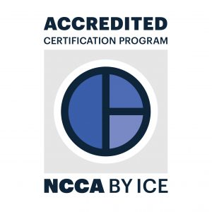 NCCA by ICE accredited certification program.