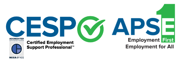 NCCA Accredited program, CESP, and APSE logo.