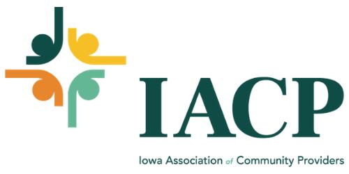 Iowa Association of Community Providers logo.