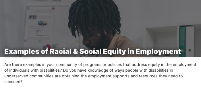 Examples of Racial & Social Equity in Employment. A Black man in an office.