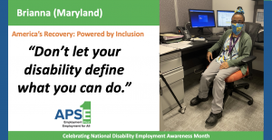 Don't let your disability define what you can do.