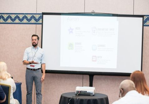 Image of an in-person presenter from the 2018 conference.
